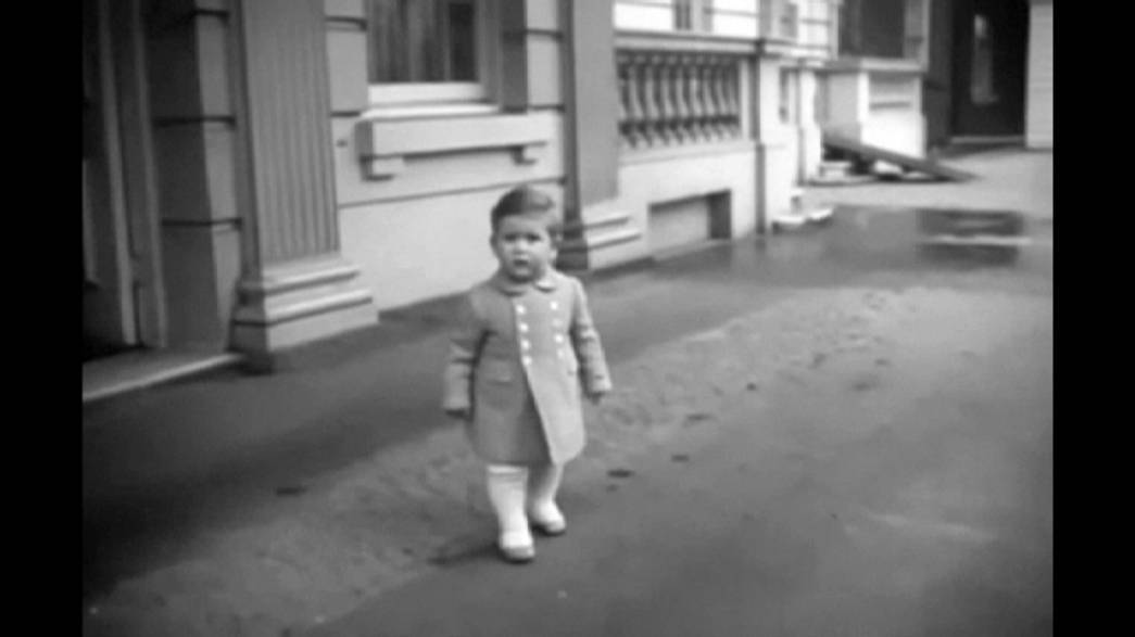 Rare footage shows Prince Charles as cute toddler with his royal mum