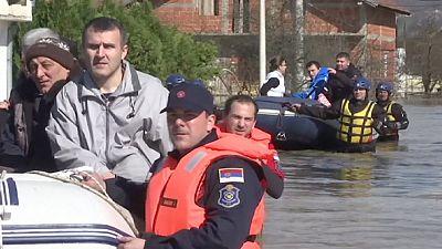 Hochwasser in Serbien