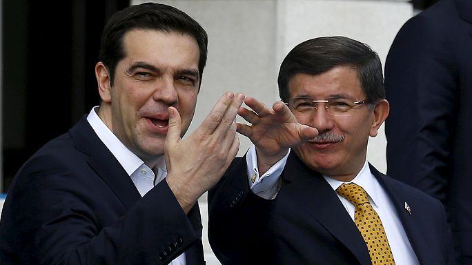 Türk ve Yunan başbakanlar işbirliği zirvesinde İzmir'de buluştu