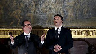 Олланд и Ренци обсудили насущные проблемы