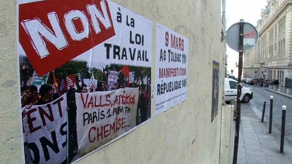 Fransa'da yeni çalışma yasasına tepkiler
