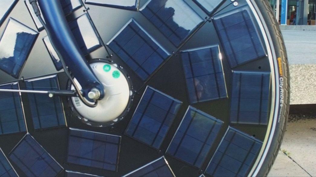 Holanda lança protótipo de bicicleta com painel solar na roda