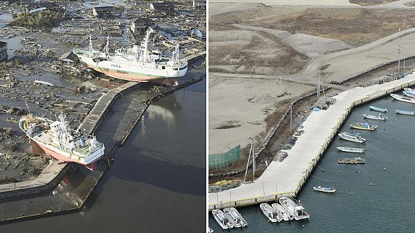 Before and after: The scars of Japan's tsunami five years on