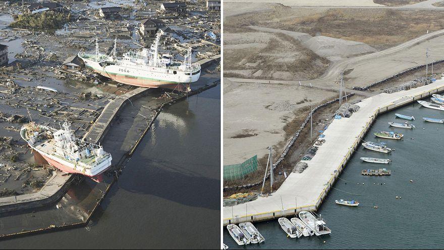 Photos avant/après Fukushima, les cicatrices toujours visibles