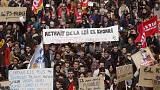 Nationwide day of protest in France against controversial labour reforms