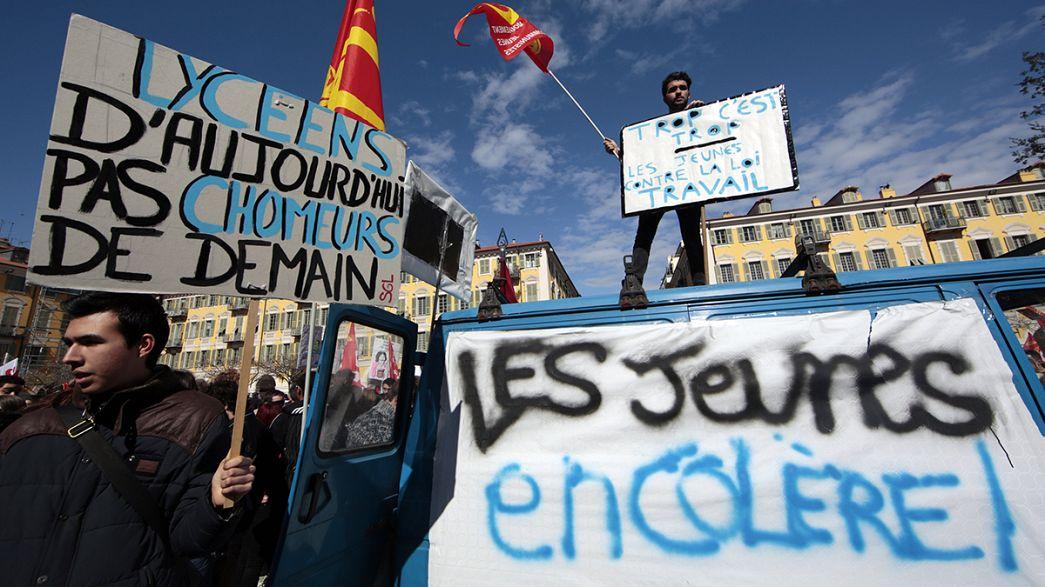 Protestas contra la reforma laboral de François Hollande