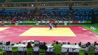 Judoka testen Olympia-Arena auf Wettkampftauglichkeit