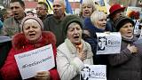 Protesters call for release of Ukrainian pilot from Russian jail
