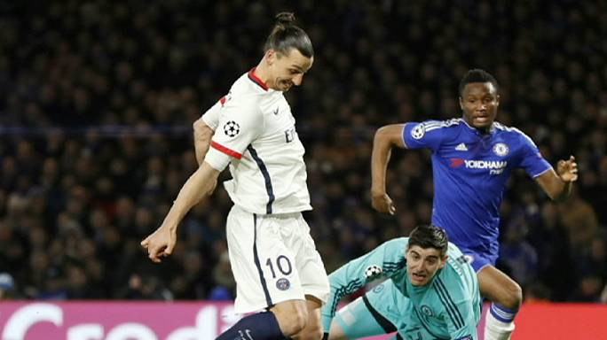 Champions League last-16: Benfica and PSG through, Zenit and Chelsea out