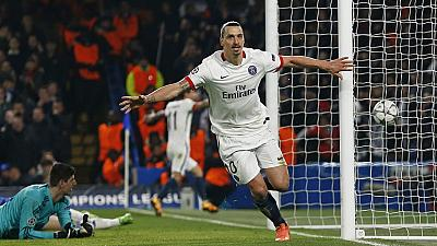 Ibrahimovic helps knock Blues out, PSG through to UCL quarter-finals
