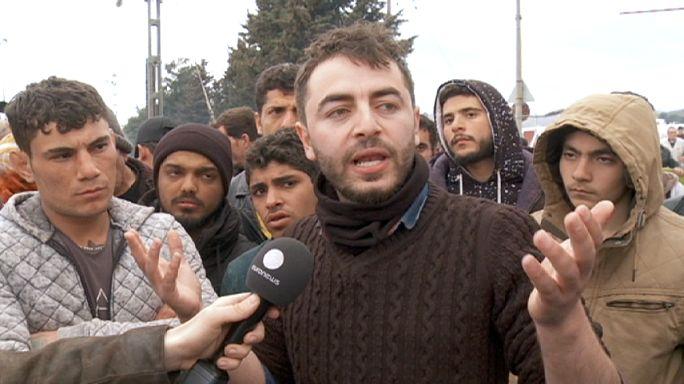 Makedonya sınırında çaresiz bekleyiş
