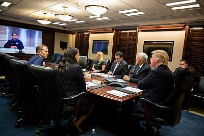 President Donald Trump in the Situation Room.