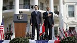 Obama recebe PM canadiano Justin Trudeau em visita oficial
