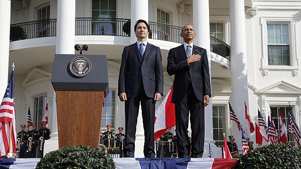 Obama recibe a Trudeau para hablar de la lucha contra el cambio climático