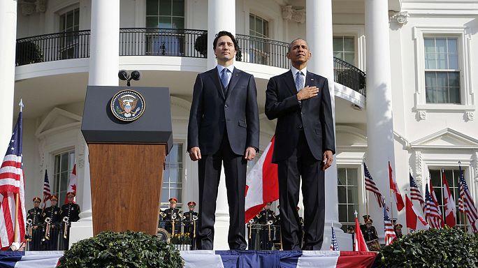 باراك أوباما يستقبل جوستان ترودو رئيس الوزراء الكندي