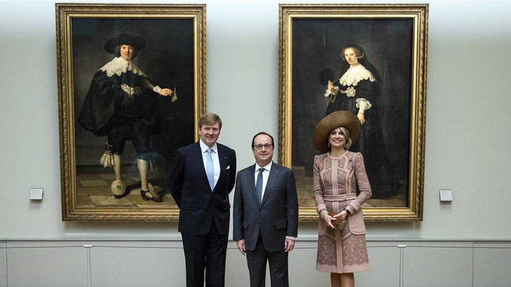 Los reyes de Holanda presentan dos retratos de Rembrandt en su visita a Francia