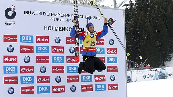 Biathlon-WM: Fourcade holt Gold, Österreich Silber und Bronze