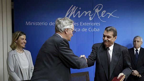 UE e Cuba assinam acordo para normalizar relações