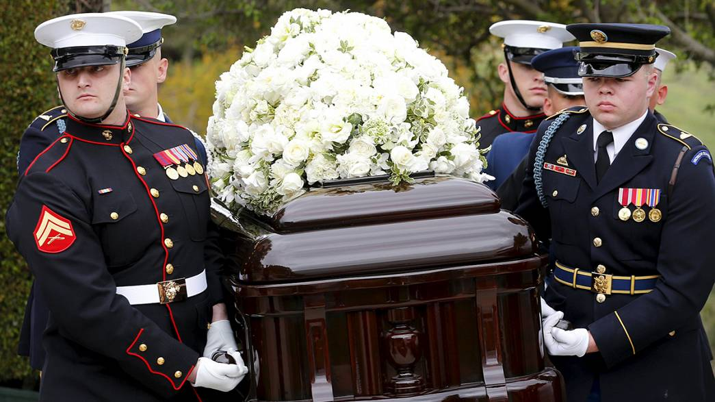 Nancy Reagan remembered at California funeral
