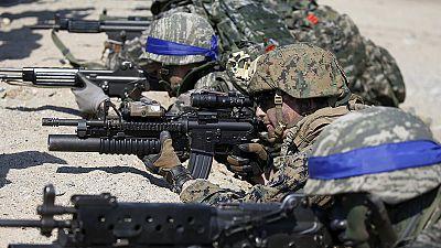 'Blitzkrieg' threat from Pyongyang over US-South Korea war games