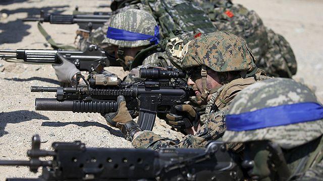 Kore Yarımadası'nda savaşın provası