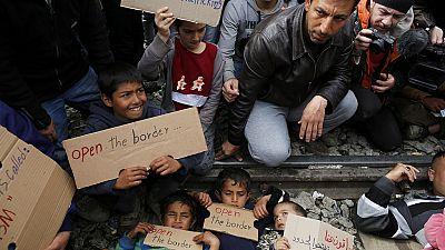 Macédoine : protestations des migrants