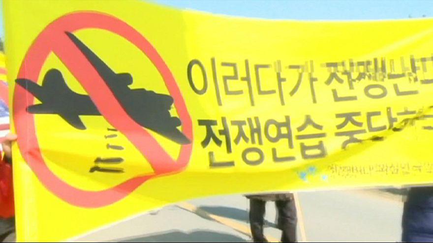 Coreia do Sul: Protestos contra participação dos EUA nas manobras militares