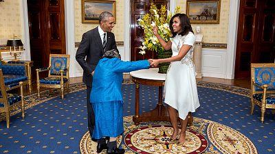 Grandma Virginia : la centenaire qui fait danser le couple Obama