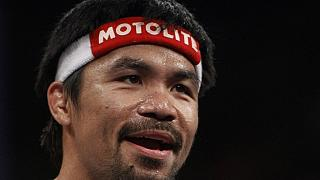 Pacquiao arrives in Los Angeles ahead of April 9 bout