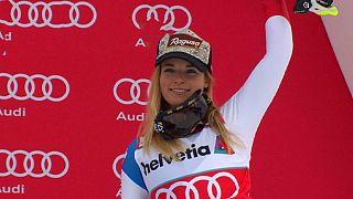 لارا گوت قهرمان مسابقات اسکی آلپاین شد