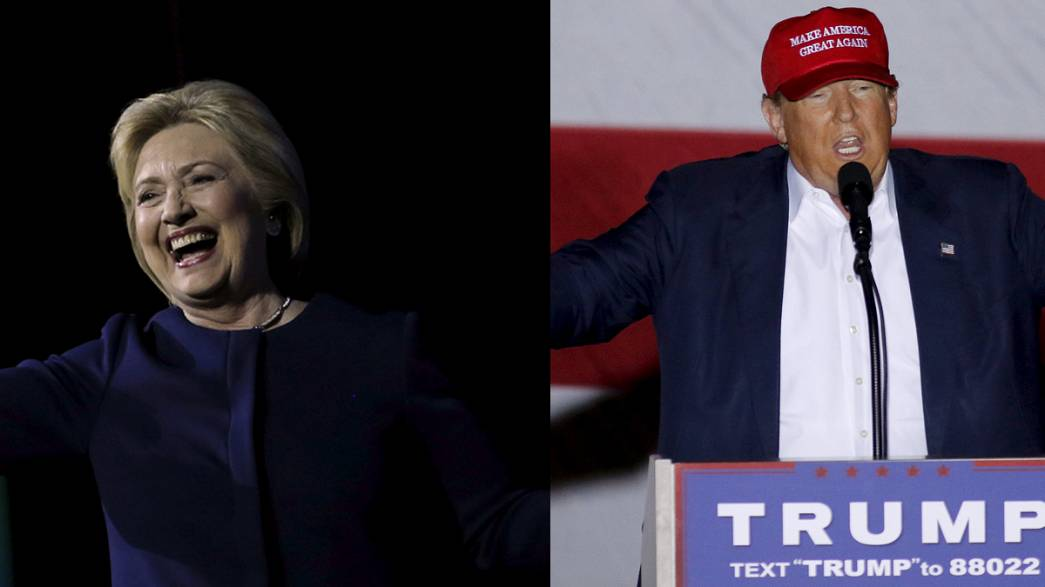 Super Tuesday die Zweite: Trump und Clinton liegen in Umfragen vorne