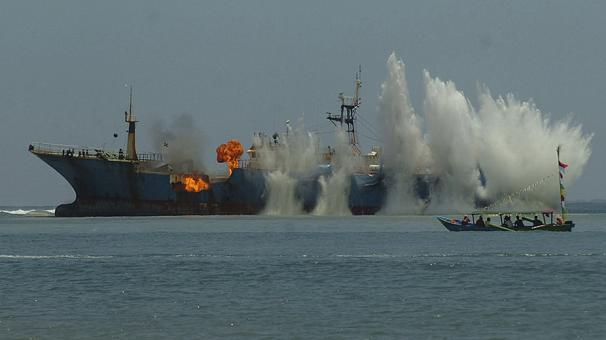 Indonesia Sinks Illegal Fishing Nigeria-flagged Ship Wanted by Interpol