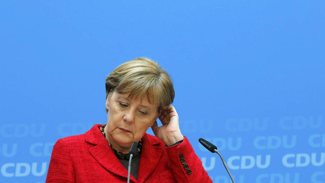 Merkel reconoce que el domingo fue un día difícil para la CDU