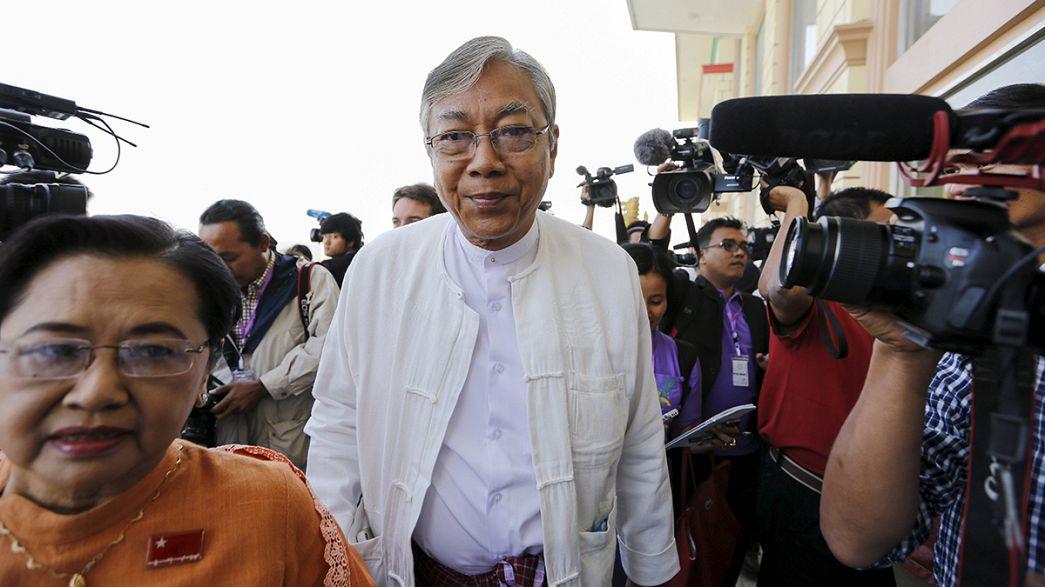 Htin Kyaw es elegido nuevo presidente de Myanmar