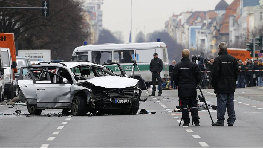 Car explodes in busy Berlin street at rush hour
