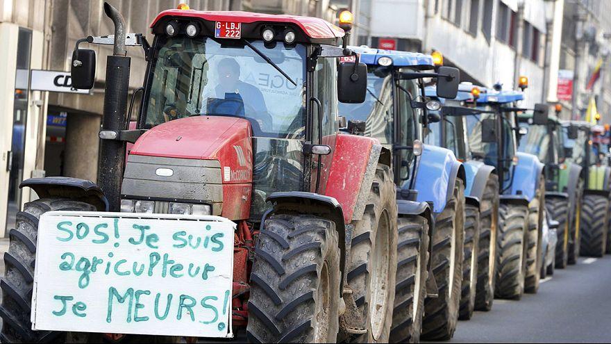 Protesta de agricultores en Bélgica