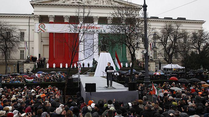 Nemzeti ünnep: Orbán Viktor Brüsszelnek, a tanárok a magyar kormányfőnek üzentek