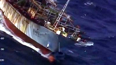 Argentine: les garde-côtes coulent un chalutier chinois