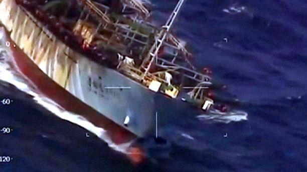 Argentine coastguard sinks illegal Chinese trawler