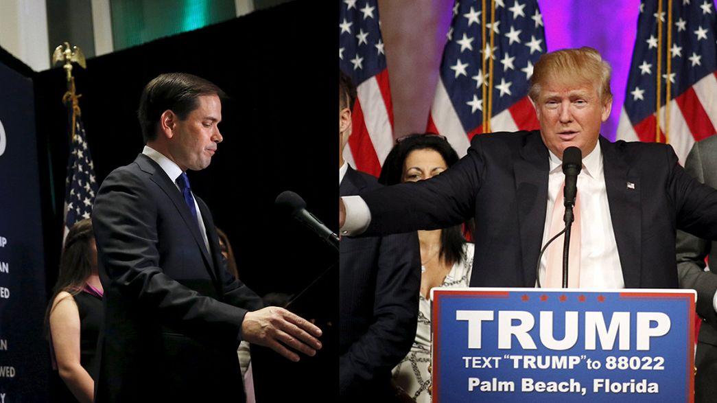 Primarias EEUU: Trump arrasa en Florida, pincha en Ohio. Rubio abandona