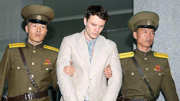القضاء الكوري الشمالي يدين طالبا أمريكيا ب 15 عاما سجنا بتهمة ارتكاب جرائم ضد الدولة