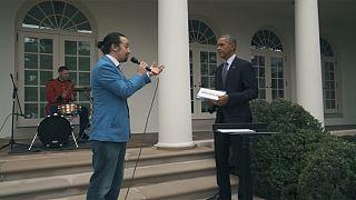 أوباما والراب في البيت الأبيض