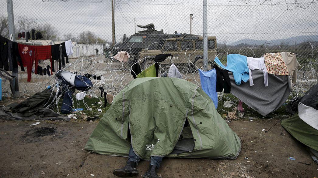 Manifestazione di sostegno ai rifugiati a Bruxelles, alla vigilia di un vertice ad alta tensione