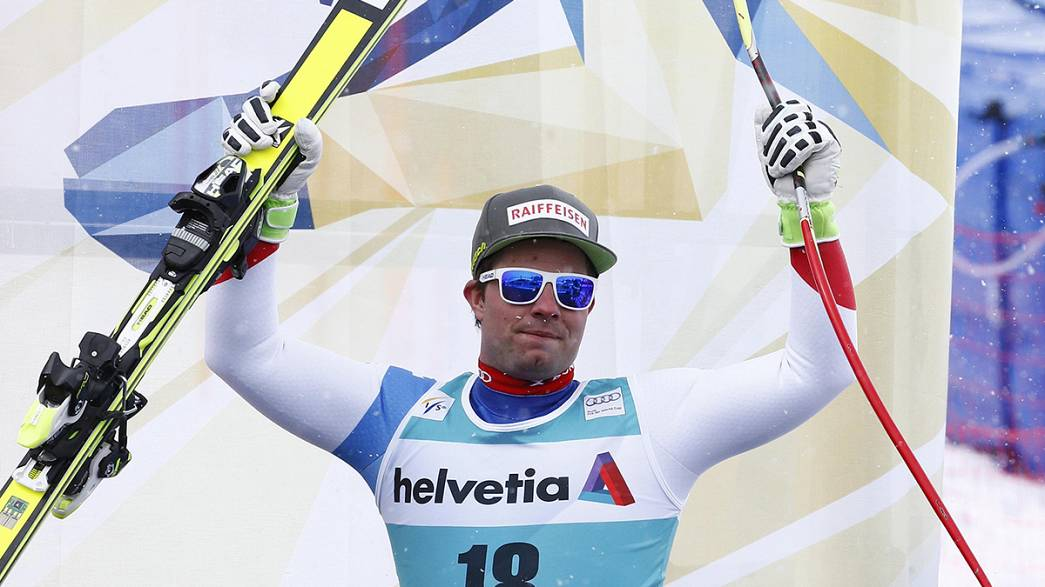 Alpine skiing: Feuz takes downhill race win as FIll makes history with discipline title
