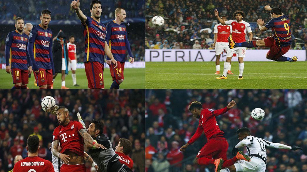 Champions League: Juve dal paradiso all'inferno, Bayern ai quarti col Barça