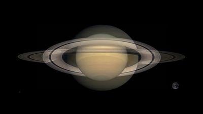 Mars et Saturne dans l'aurore
