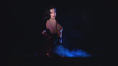 Dita teases Paris at the Crazy Horse