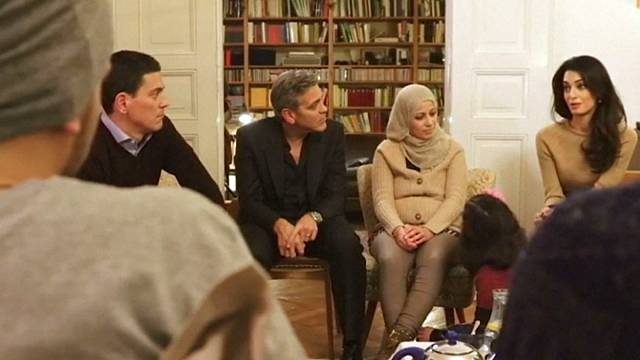 George and Amal Clooney show solidarity with Syrian refugees