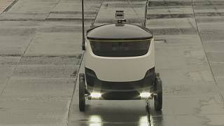 Starship Technologies trial robot delivery system in Greenwich, London