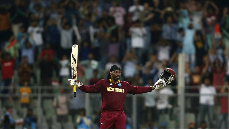 Le Jamaïcain Chris Gayle, star du Super 10 de cricket